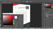 تغییر رنگ متن در طرح لایه باز فتوشاپ